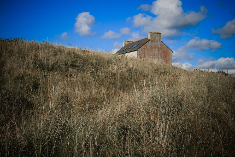 Brittany Architecture Building Exterior Built Structure Cloud - Sky Day Dune Field Grass Growth House Nature No People Ocean Outdoors Plant Sky Tree