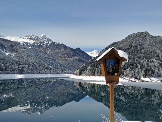 Reflection Lake Sauris Mountains Water Reflections