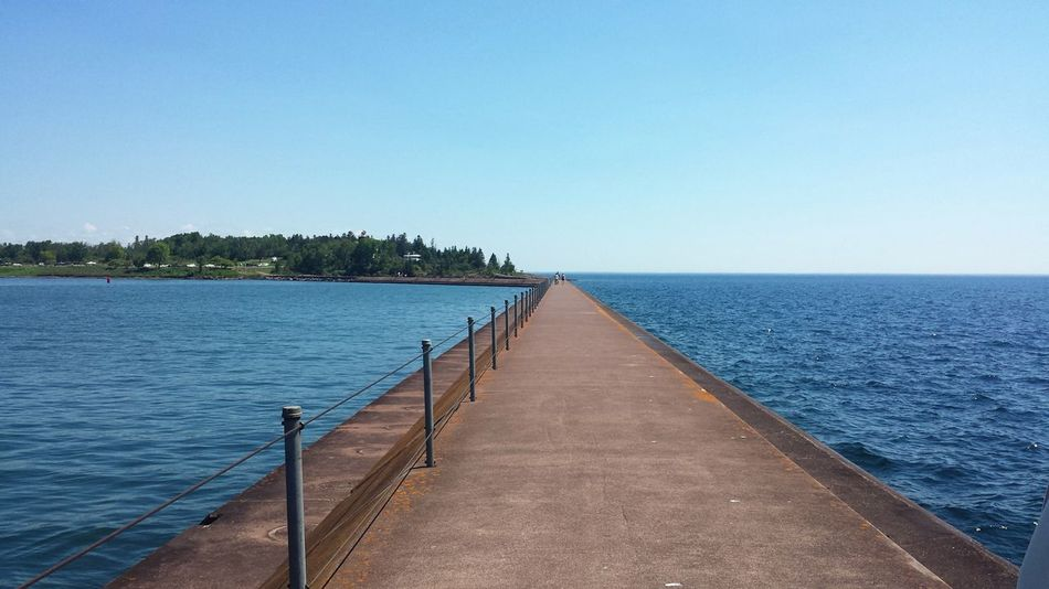 EyeEm Selects Water Outdoors Travel Destinations Tranquility The Way Forward No People Landscape Horizon Over Water Beauty In Nature Minnesota Lake Superior Duluth Adventure Paths Of Life The Week On EyeEm Be. Ready.