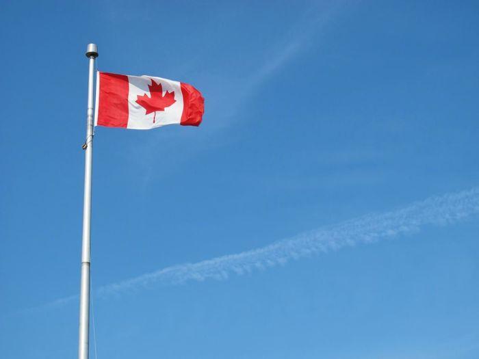 Flag National Flag Blue Sky Pei Prince Edward Island Canada Travel Photography