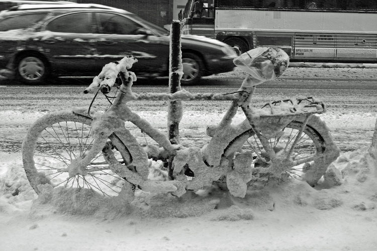 Winter Wintertime Winter Wonderland Winterscapes Winter In New York Winterwonderland Winter_collection Winter Landscape Bike In Snow Fresh On Eyeem  New York City Snow ❄ Snow Snow Day Sub Zero Cold Temperature Cold Winter ❄⛄ Cold Weather Cold Outside Ice Age CyclingUnites Snow Sports