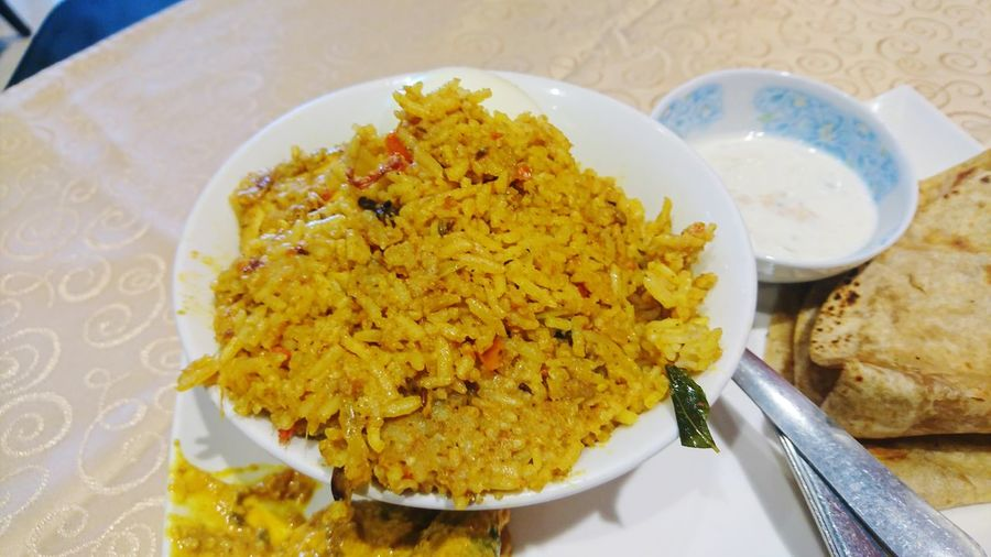 Egg Biryani Biryani Egg Biryani Plate High Angle View Close-up Food And Drink Indian Food Turmeric  Rice - Food Staple Fried Rice