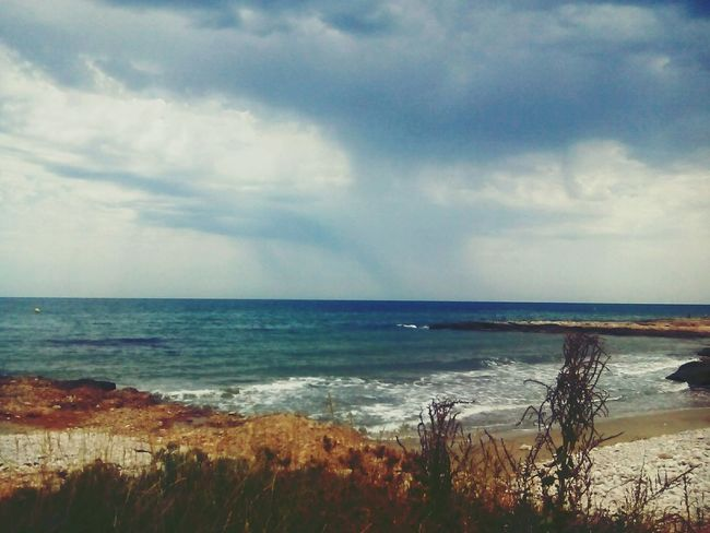 Mediterranean Sea Sea On The Beach Beach Enyoing The View  Taking Photos Landscape_Collection Simple Moment Nature Lake View
