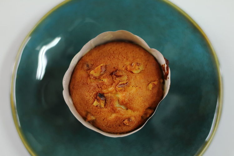 Directly Above Shot Of Muffin On Plate