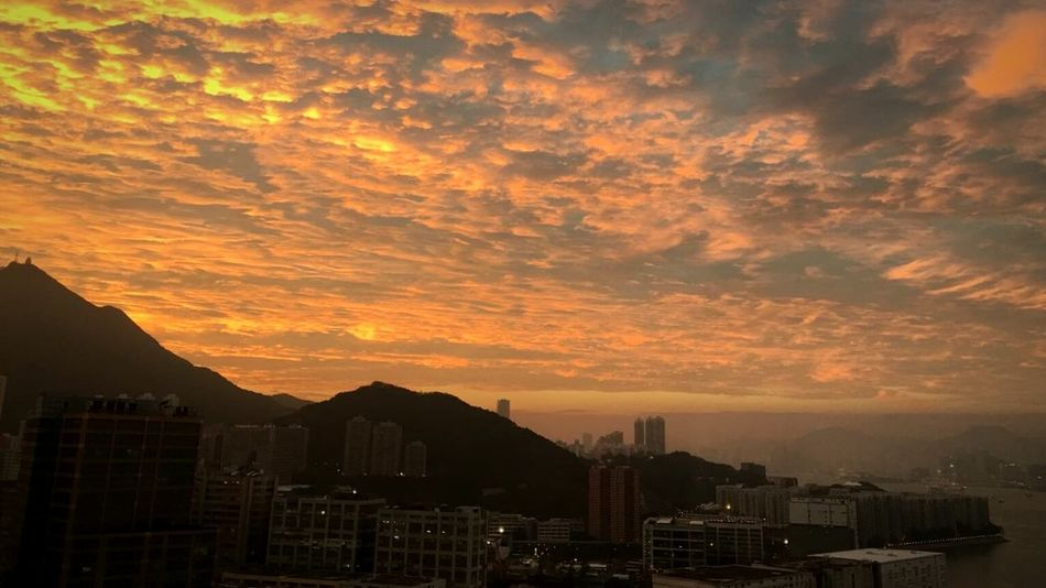 Sunset City Cityscape No People Urban Skyline Outdoors Skyscraper Beauty In Nature Architecture Sky Building Exterior Hong Kong