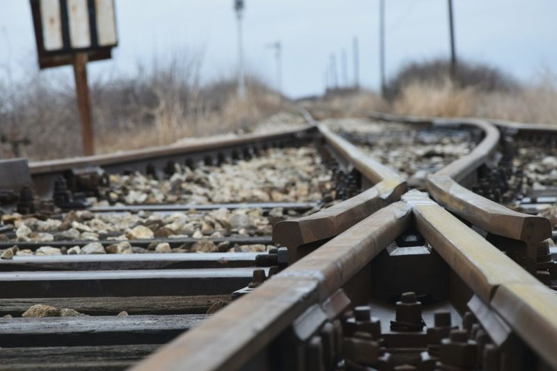 Railroad Track Outdoors Focus On Foreground Soft Focus