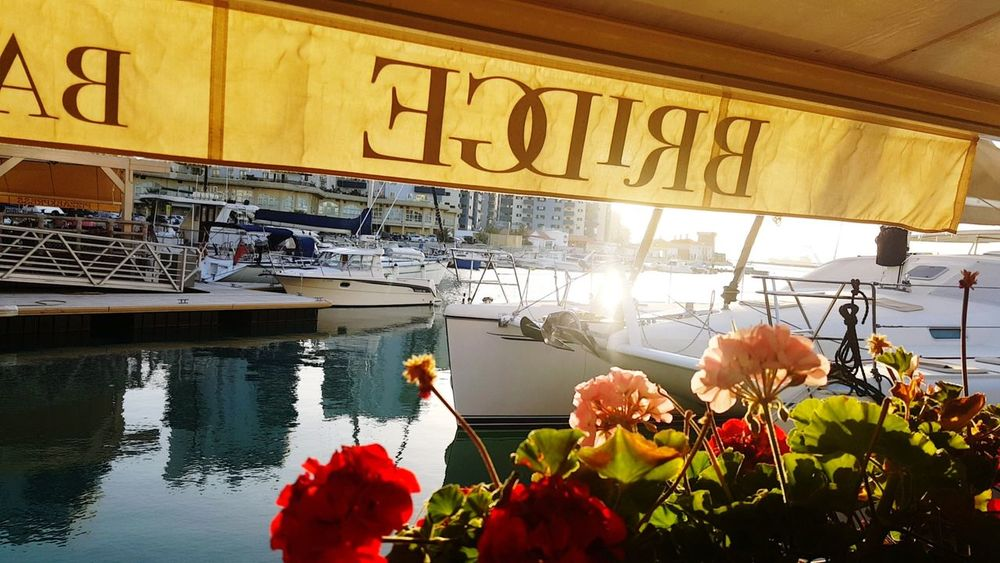 Reflection Water Outdoors Travel Destinations Nature Flower Nautical Vessel Day Gibraltar Views