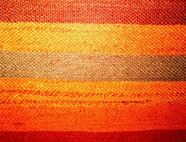 Carped Textured  Orange Color Backgrounds Pattern Full Frame Close-up