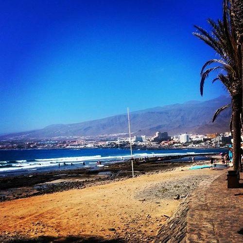 Lasamericas Beach Beachlife Love Tenerife Canaryisland Palmtrees Beautiful Enjoyinglife  Travellingeveryday Travel Adventure Happiness Holidaylife Todotiempo Tododia Guapa Latardes Mar Atlanticocean Waves Promenade 2015