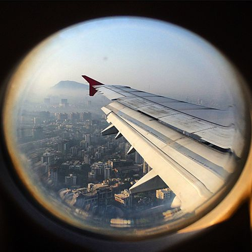 Aerial Shot From Above  From An Airplane Window Bombay India Traveling City Horizon Learn & Shoot: Leading Lines Amazing View