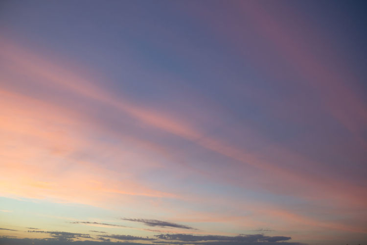 Backgrounds Beauty In Nature Blue Cloud Cloud - Sky Dramatic Sky Full Frame Gradient Gradiented Sky Latvia Majestic Nature Orange Outdoors Pastel Purple Scenics Sky Streaks Sunset Tranquility Weather