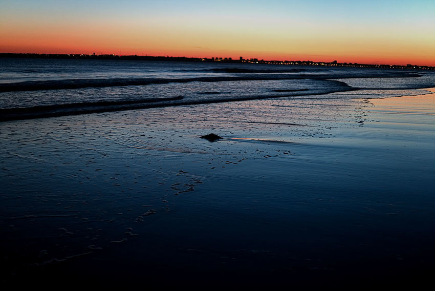 Beauty In Nature Blue Canon EyeEm Gallery EyeEm Nature Lover EyeEmNewHere Low Tide Nature No People Ocean Outdoors Reflection Scenics Sky Sunset Tranquil Scene Tranquility Water Waves EyeEm Beach Sea Sand Landscape Colors