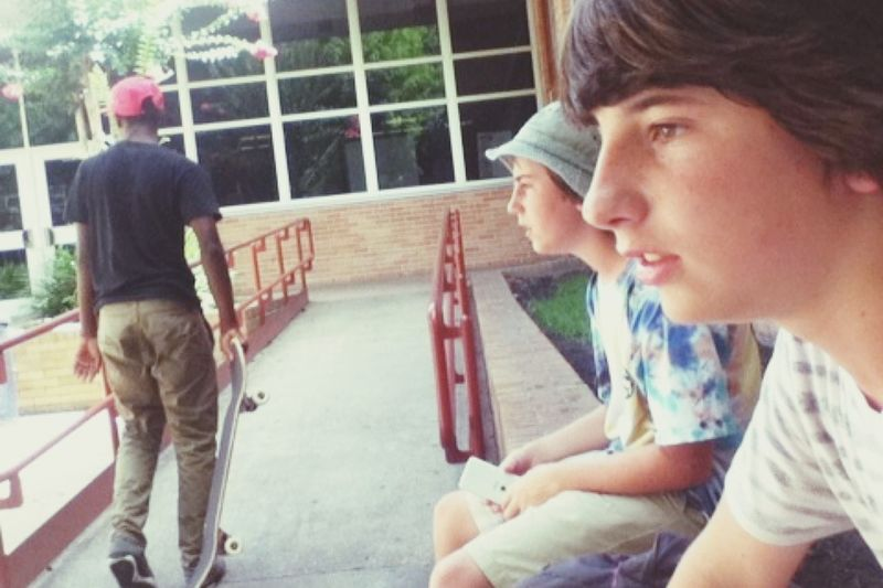 Skate day with the guys it was so hot Summer ☀
