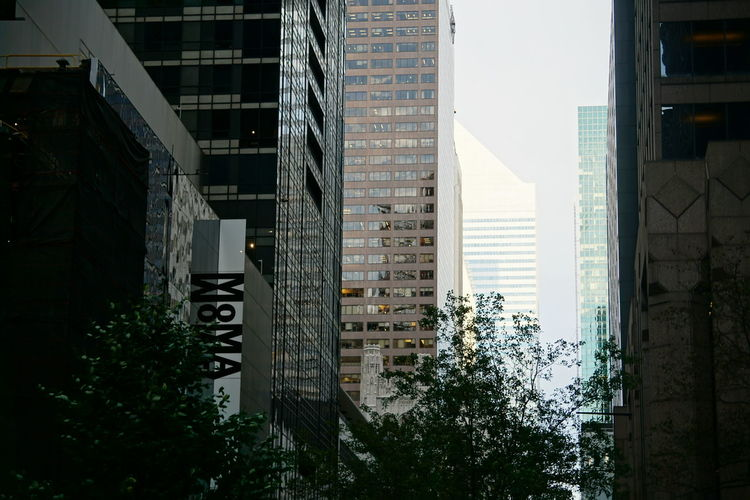 MOMA, Museum of Modern Art Architecture Moma N.Y. NYC NYC Photography New York New York City Architecture Building Building Exterior Built Structure City Communication Day Moma No People Outdoors Sky Skyscraper Tree