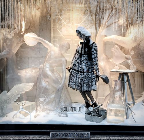 Sculpture Bergdorf Goodman Christmas In New York Streetphotography