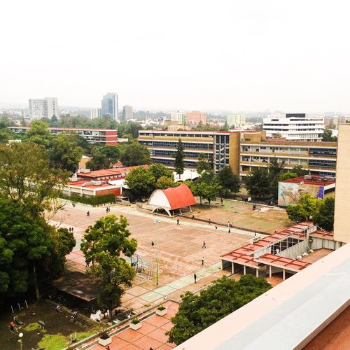 Facultad de Medicina - Ciudad Universitaria .. Building Exterior High Angle View Architecture Roof Built Structure Tree Clear Sky City Outdoors House Residential Building Day Cityscape No People Sky Ciudad Universitaria UNAM