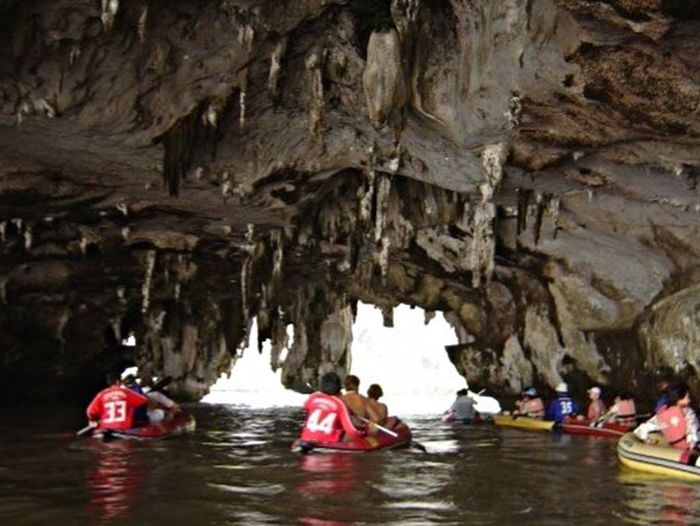 Kayaking through limestone caves. Limestone Cave Kayaking Thailand Taking Photos Travel Photography Limestonephotos