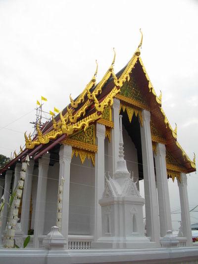 Architecture Buddhism Buddhist Temple Built Structure Golden Relegion Thailand White