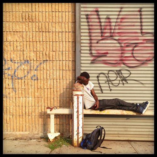 Sleeping In My Hood Streetphotography Looking Tired