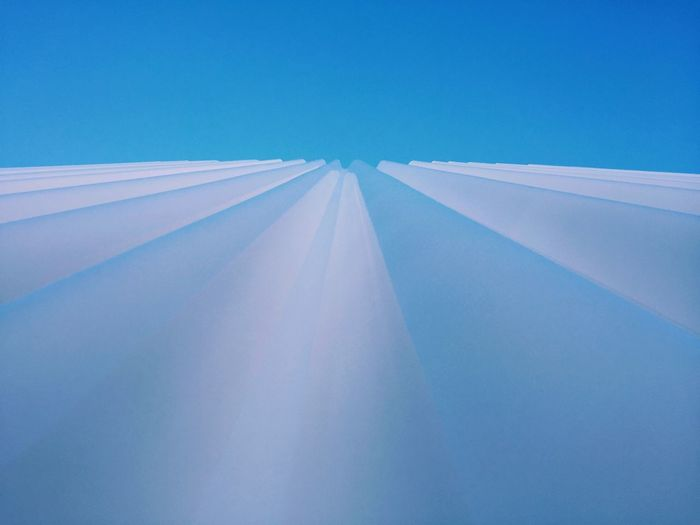 Vitra lines SANNA Architect Firm Vitra Building Clear Sky Blue Low Angle View Modern Symetry Design