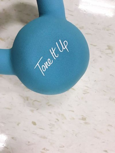 Lifestyle Kettleball Copyspace Typography Message Workout Fitness Weight Western Script Text Communication Close-up Day Indoors