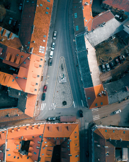 Old town of Vilnius, Užupis, aerial view City Architecture Road Street Aerial View High Angle View Old Town Vilnius Lithuania Lietuva Architecture Built Structure No People Town