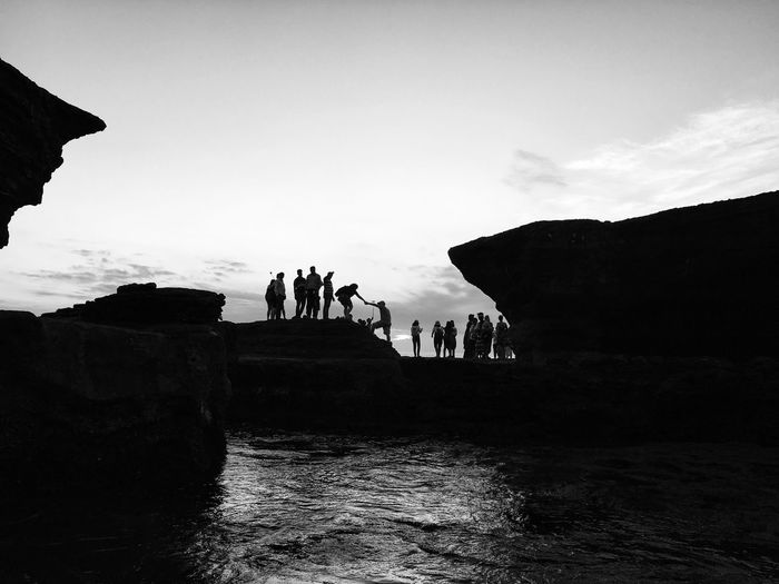 Group of people on rock