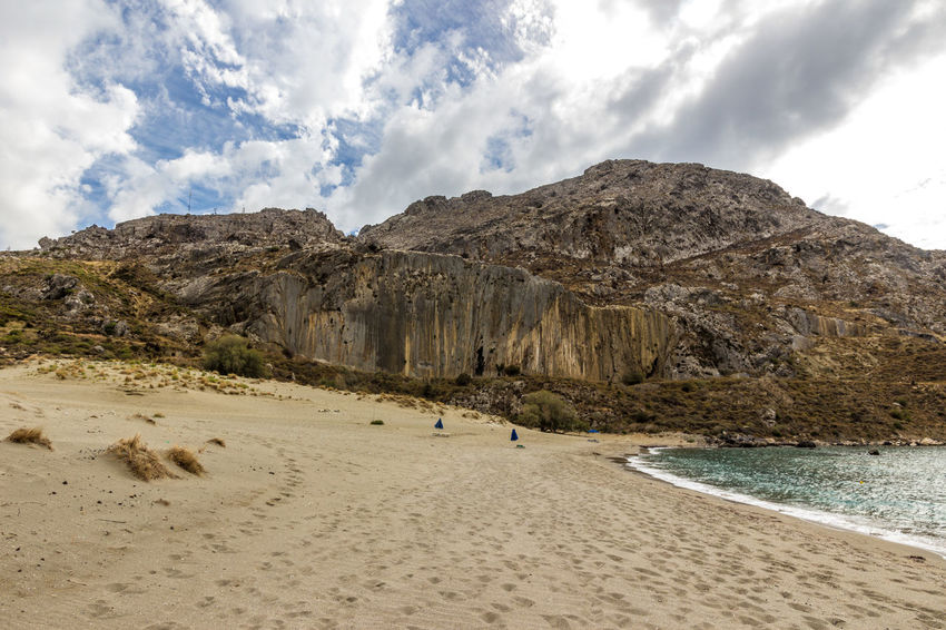 Plakias beach, south Crete, Greece Crete Greece Greece, Crete Holiday Holidays Rock Formation Bay Beach Beauty In Nature Cloud - Sky Clouds And Sky Crete Greece Landscape Mountain Mountain Range Nature No People Plakias Sand Scenics Sea Sky Tourism Travel Destinations Water