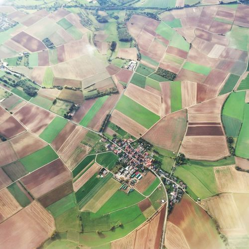 Hammersbach Germany Village Aerial Shot Landscape Agriculture Field