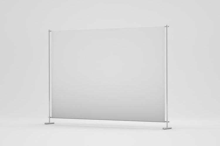 Low angle view of empty paper against white background