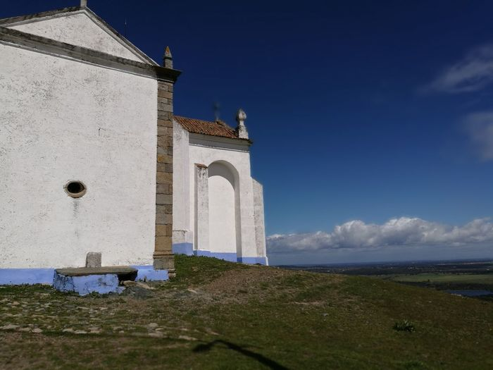 Church Landscape Alentejo Portugal Blue Religion History Place Of Worship Sky Architecture Memorial Catholicism Cathedral Cross Monument Place Of Burial