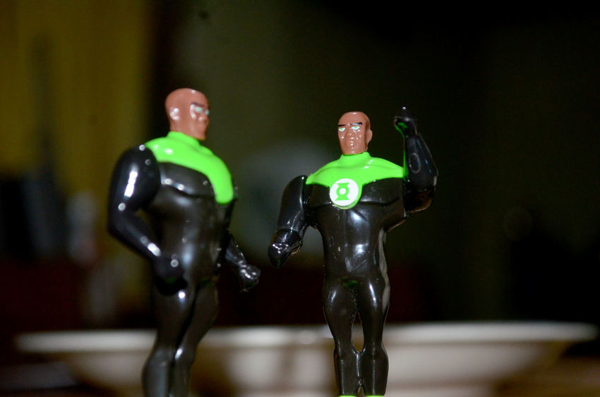 Actionfigurecollections Arrangement Close-up Contrasts Focus On Foreground Green Color GreenLanternCorps Man Made Object Model - Object Selective Focus Still Life Toyphotography
