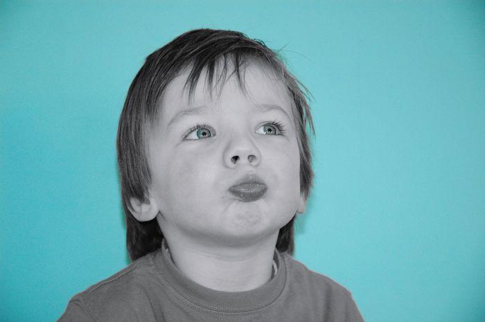 Studio Shot Colored Background Blue Background Child Portrait Edited My Way EyeEm Gallery Eyeemphotography