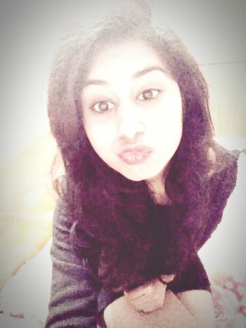 In A Mood To Kiss Red Lips ❤ Eyelined Eyes Thats Me ♥ Amazing Selfie ♥ Sitting Alone At My House <3 in Faridabad