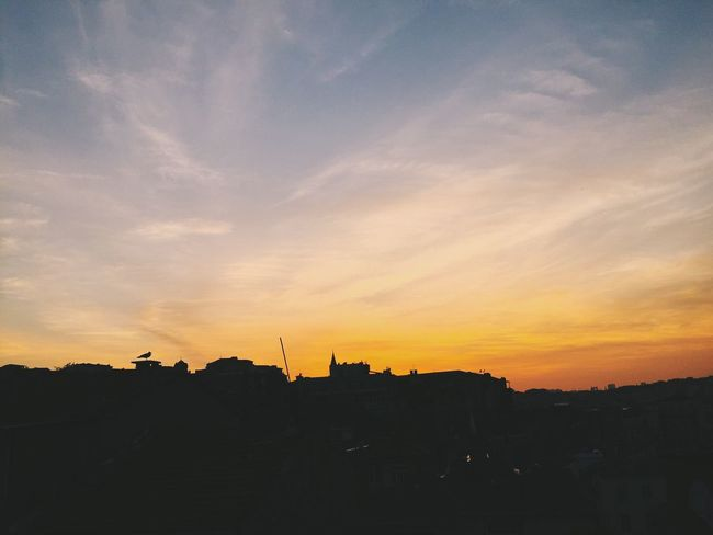 Sunset Silhouette Architecture Sky No People Built Structure Building Exterior Beauty In Nature Nature Outdoors City Seagull