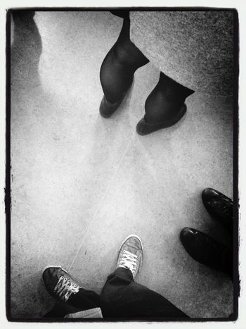 Shoes and legs. Shoes Staten Island Ferry