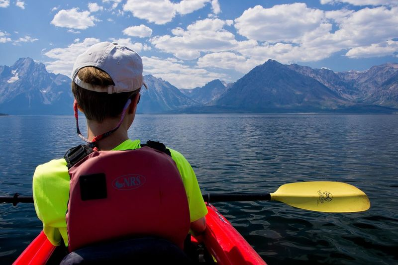 The Places I've Been Today Grand Teton National Park  Kayaking Jackson Lake