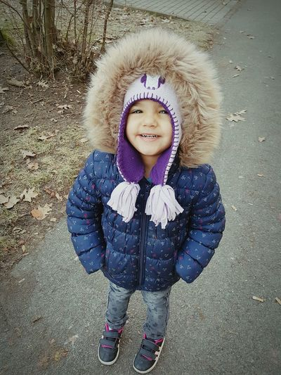 Cold Morning! Daughter Smiles Love Her Smile  Proud Mommy