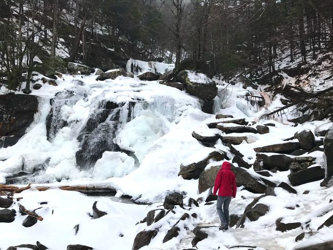 Kaaterskill Falls Ice Winter_collection Kaaterskillfalls Catskill Mountains New York Nature Pink Hike Frozen Waterfall Falls Frozen Winter Snow Cold Temperature Nature Outdoors Day Waterfall Beauty In Nature Scenics Water Full Length
