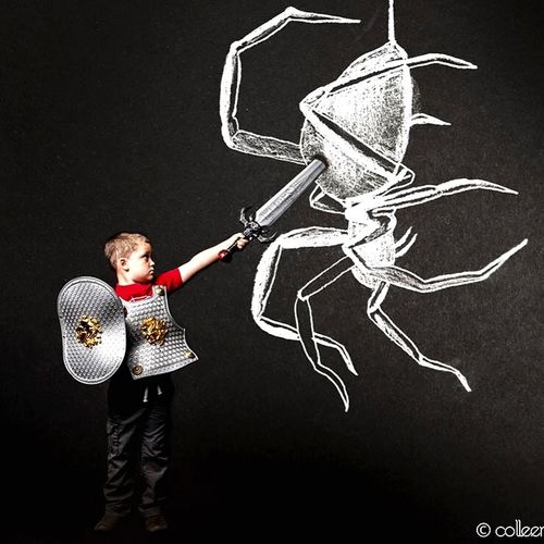 Warrior Taking Photos Make It Yourself Fairytale  Makebelieve Photography Drawing Surrealism