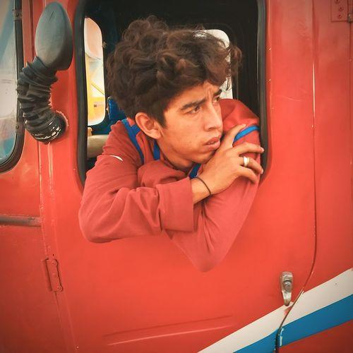Tuk-tuk driver VSCO Lima Perú Streetphotography Portrait Ways Of Seeing Men Red Headshot Close-up The Portraitist - 2018 EyeEm Awards #urbanana: The Urban Playground