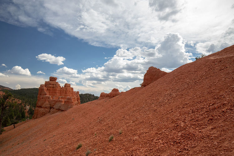 Red Canyon in Utah, USA - the smaller brother of the world famous Bryce Canyon Cloud - Sky Non-urban Scene Beauty In Nature Scenics - Nature Nature Tranquil Scene Tranquility Red Canyon Red Canyon State Park, Utah USA National Park Travel Environment Landscape Travel Destinations Tourism Rock Mountain Rock Formation Rock - Object Exploration Outdoors Climate Arid Climate Sandstone