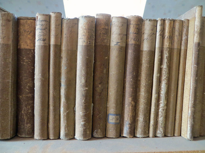 Ancient Archive Archives Arrangement Books History In A Row Library Library Book No People Old Preservation Preserve Side By Side Worn Worn Books