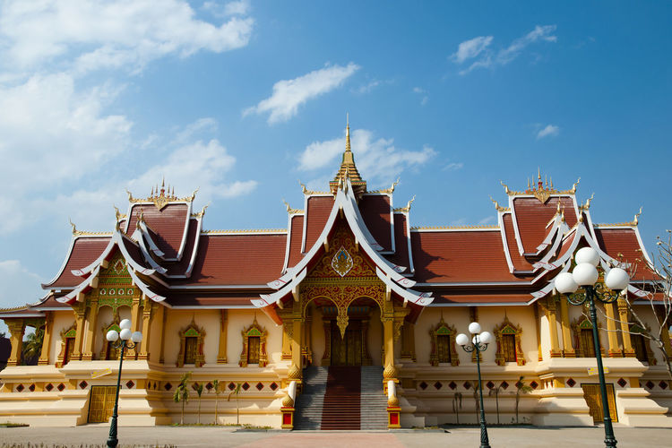 Buddhist Temple in Pha That Luang Buddhist Vientiane Buddhist Temple Laos Pha That Luang