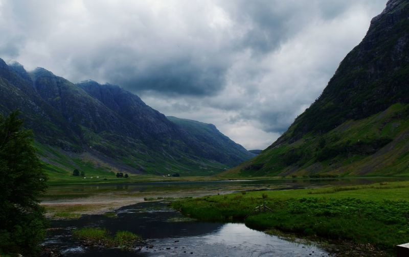 In the Vale Scotland Highlands Scotland Highlands Glencoe Water Mountain Lake Tree Reflection Fog Hiking Forest Dramatic Sky Waterfall Valley Mountain Peak Mountain Ridge Dramatic Landscape Ravine Loch  Natural Landmark Standing Water Storm Cloud Stream - Flowing Water