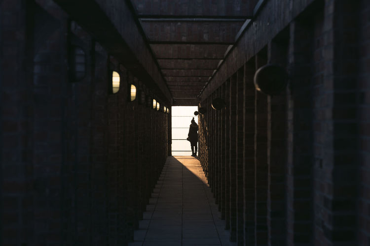 Architecture Brick Building City Diminishing Perspective Hallway Light And Shadow Sunset Tunnel Urban Urban Geometry Vanishing Point View Woman