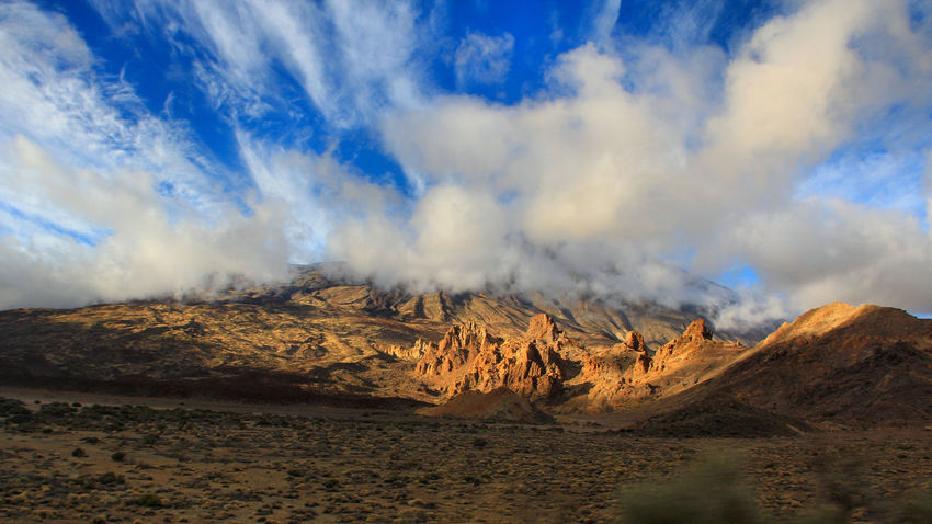 Beauty In Nature Canadas Del Teide Cloud - Sky Danger Day Evening Light Landscape Mountain Nature No People Outdoors Panorama Power In Nature Scenics Sky Sky And Clouds Smoke - Physical Structure Teide Teide National Park Tenerife Tranquil Scene Tranquility Volcanic Landscape