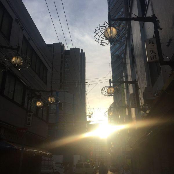 射し込む 光 太陽 夕陽 Sunset Sun