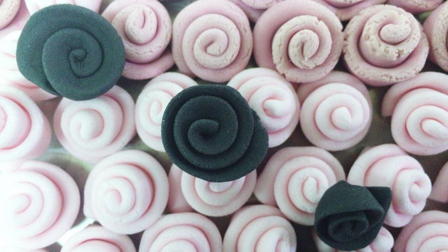 Close-Up Of Swirl Marshmallows