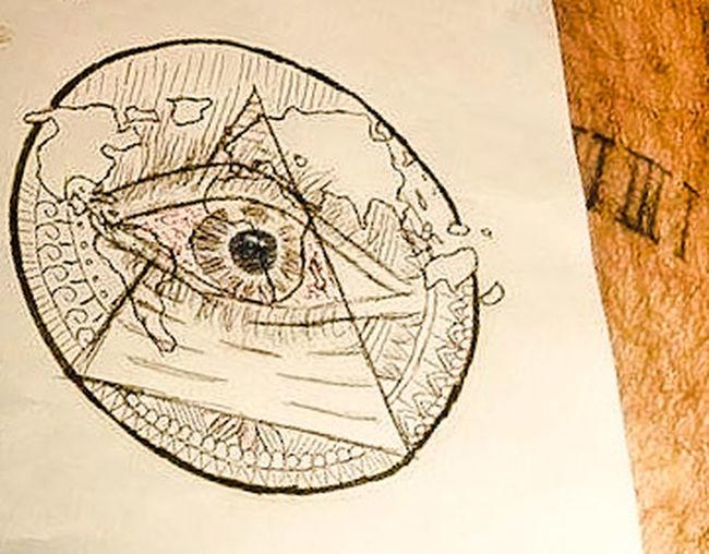 Illimunati Eye Earth Art 1312